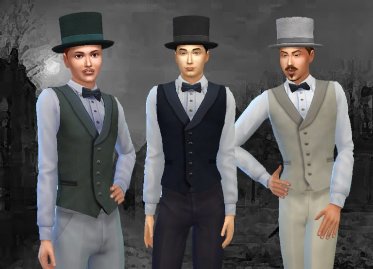 Victorian Fashion for Men (Hat + Vest)
