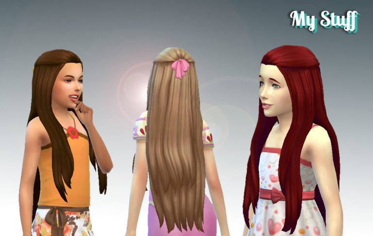 Pure Hair (Version 2) + Bow for Girls 💕