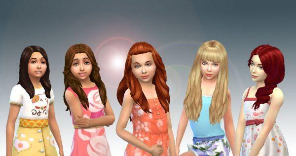 Girls Long Hair Pack 8