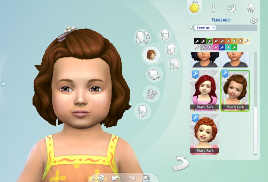 Short Wavy Pinned for Toddlers