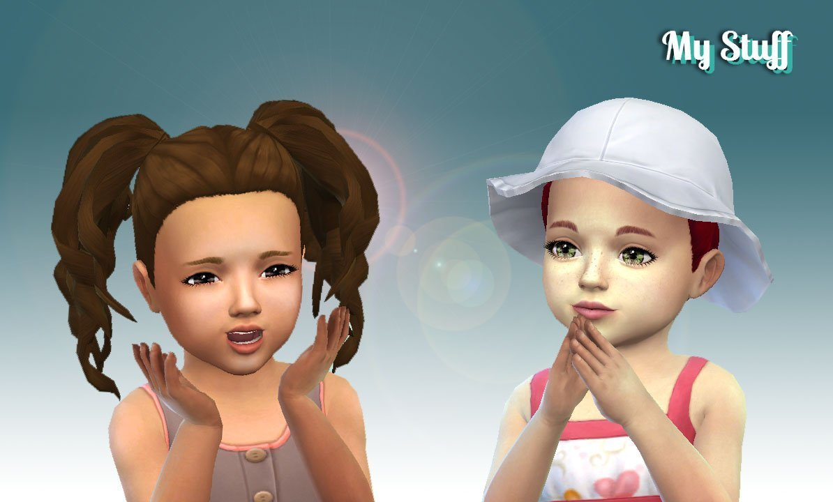 Curls Pigtails for Toddlers