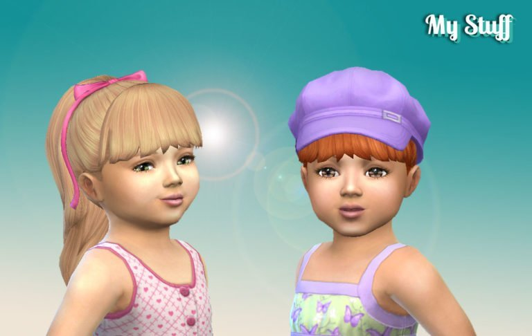 High Ponytail with Bangs for Toddlers
