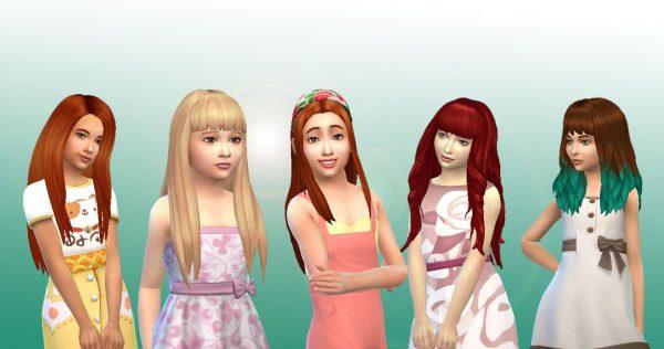 Girls Long Hair Pack 9