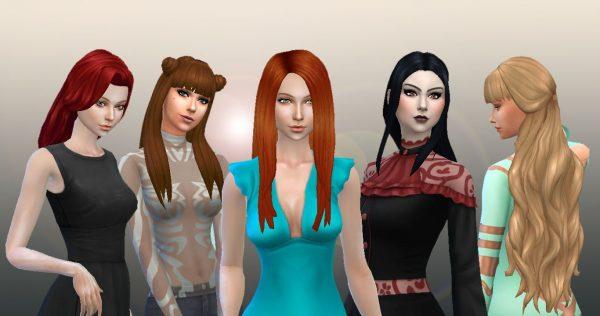 Long Hair Pack 7