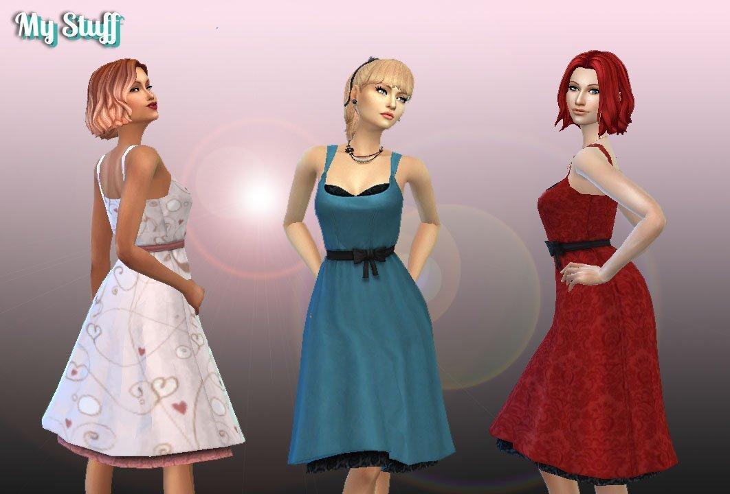 Puff Skirt Dress