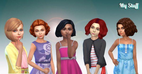 Girls Medium Hair Pack 5