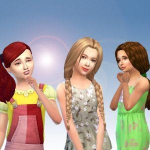 Girls Tied Hair Pack 6