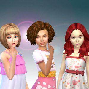 Girls Medium Hair Pack 7