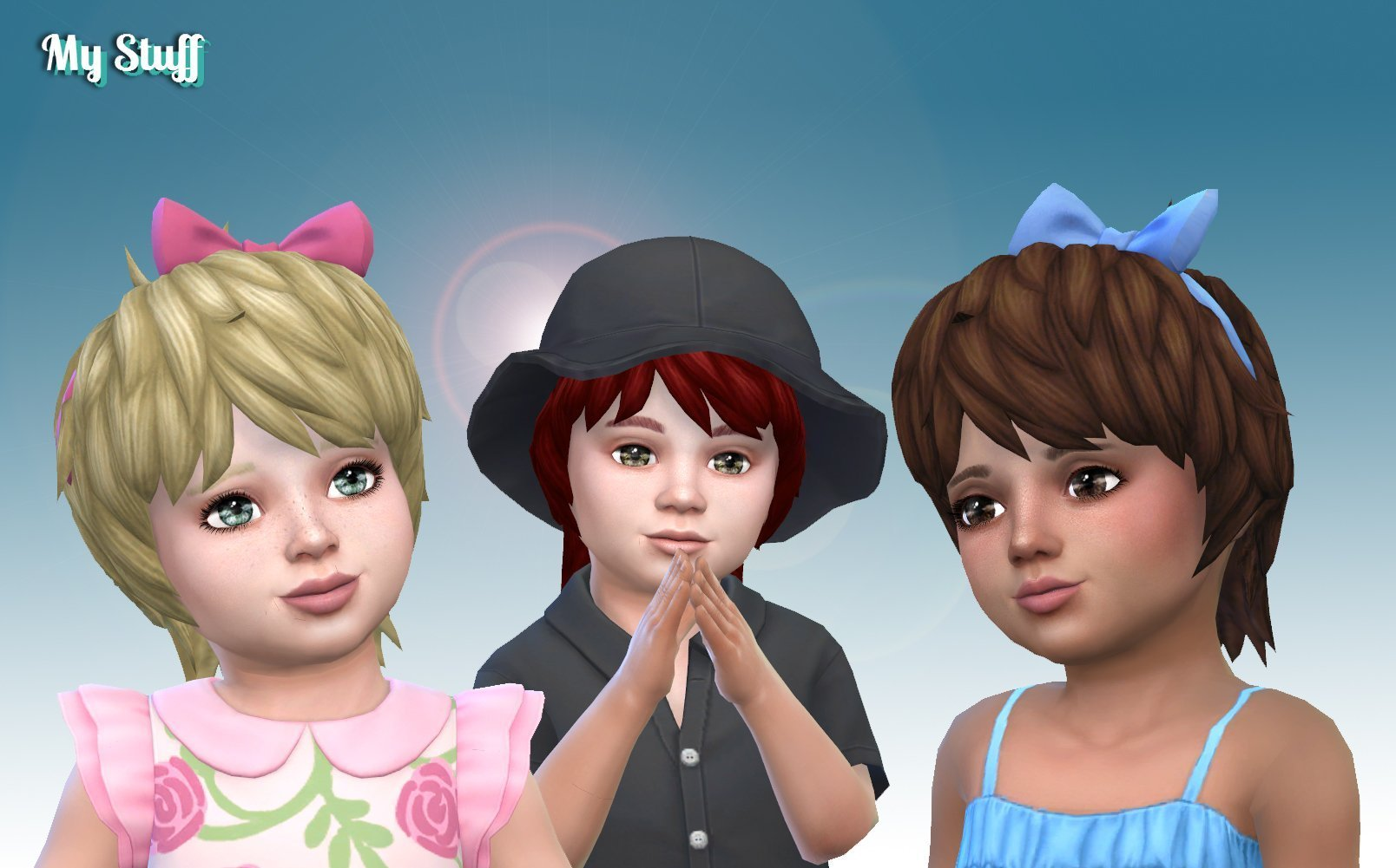 Shaggy Bow Hairstyle for Toddlers