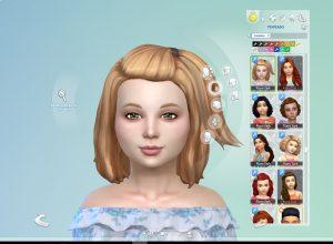 Melanie Hairstyle V2 for Girls