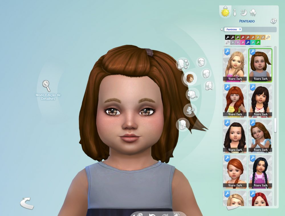 Melanie Hairstyle V2 for Toddlers