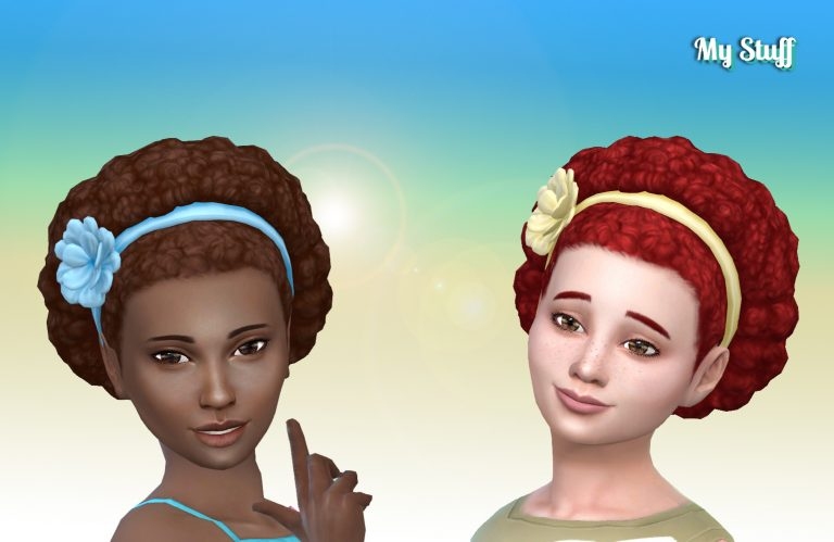 Afro Band Flower for Girls
