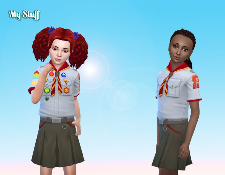 Scout with Skirt for Girls 💕