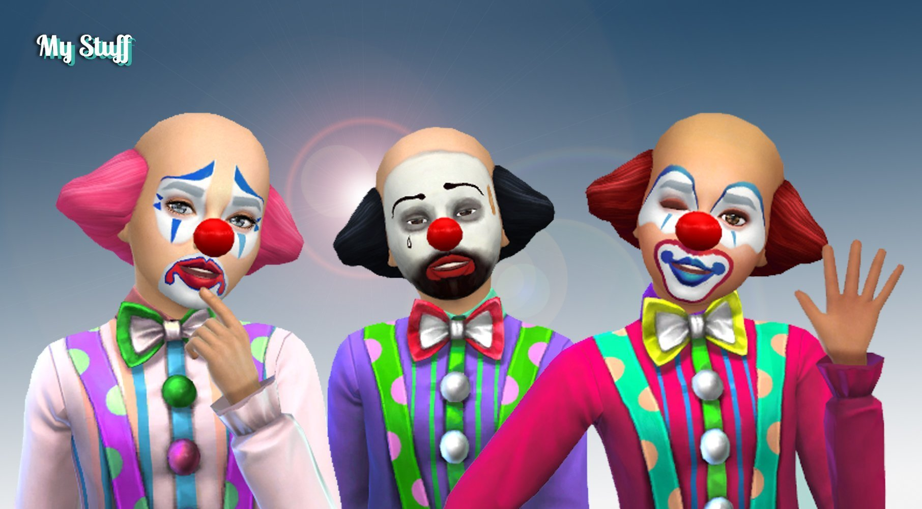 Clown Hair + Makeup for Kids