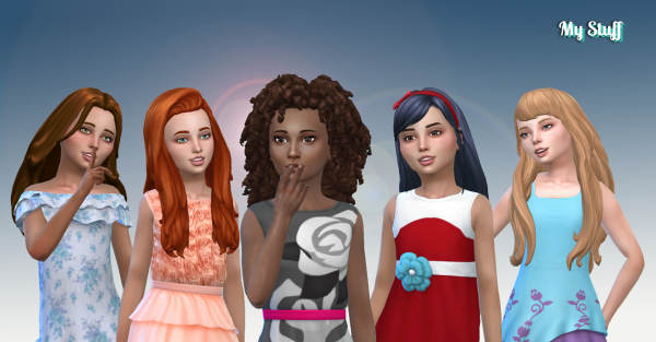 Girls Long Hair Pack 17