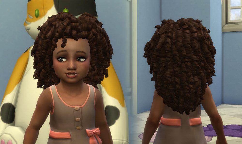 Long Tight Curls for Toddlers