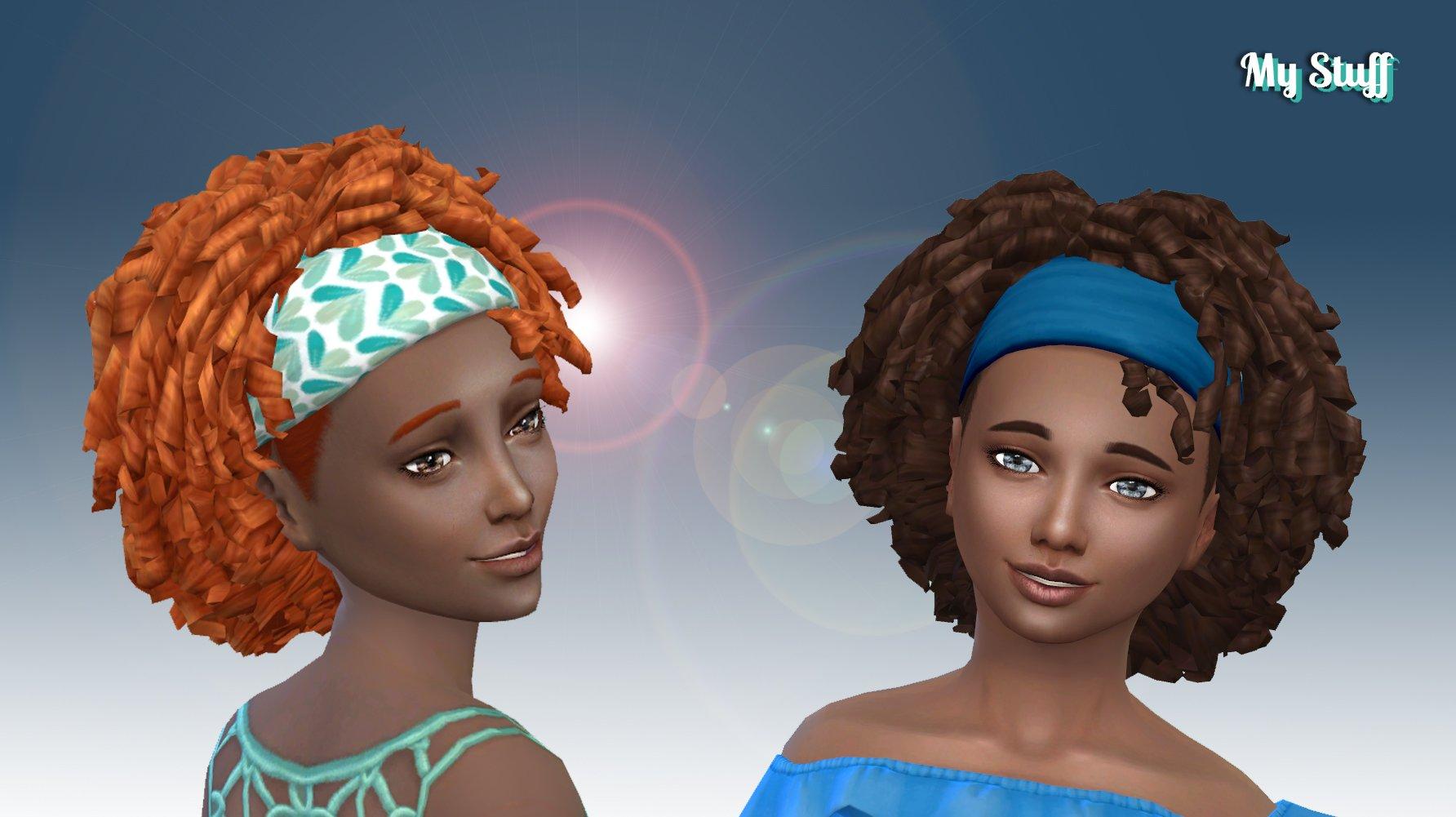 Tight Curls Bandana for Girls