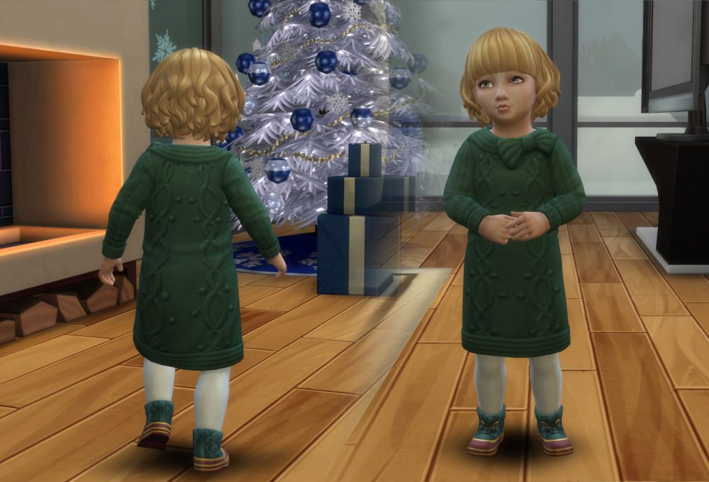 Dress Oversized Sweater for Toddlers