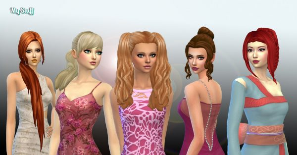 Female Tied Hairs Pack 11