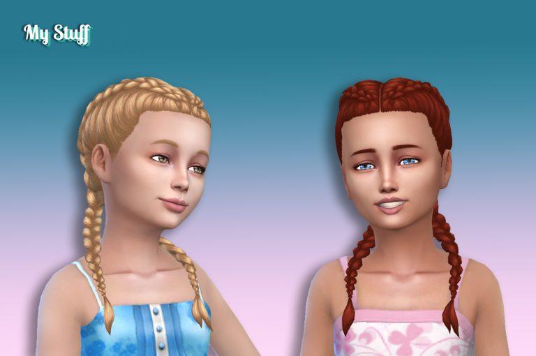 Dutch Double Braids for Girls 💕