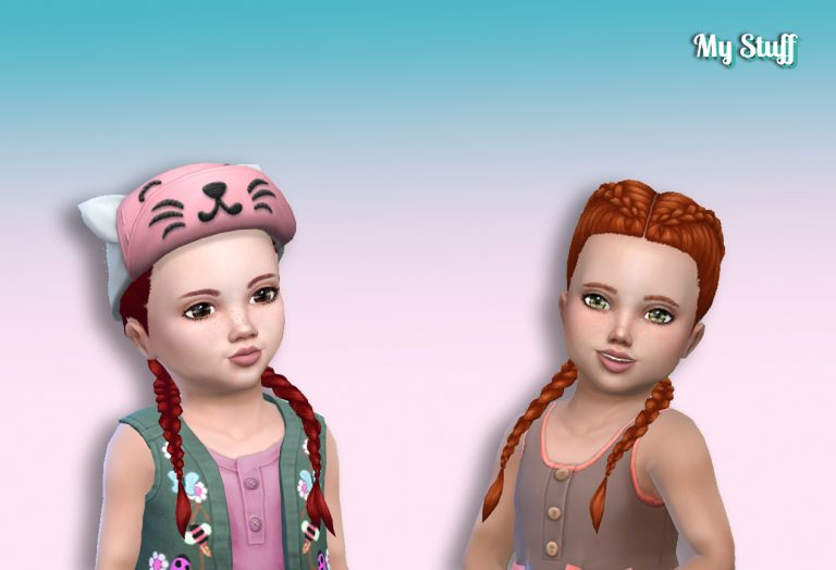 Dutch Double Braids for Toddlers