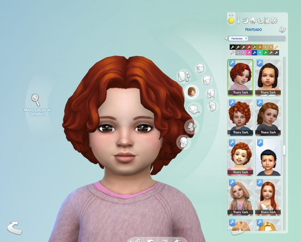 Curly Mid Part for Toddlers