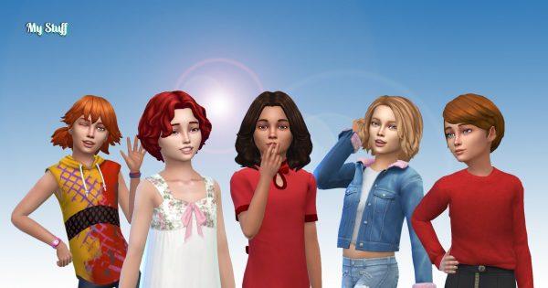 Girls Medium Hair Pack 13