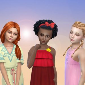 Girls Tied Hairs Pack 10