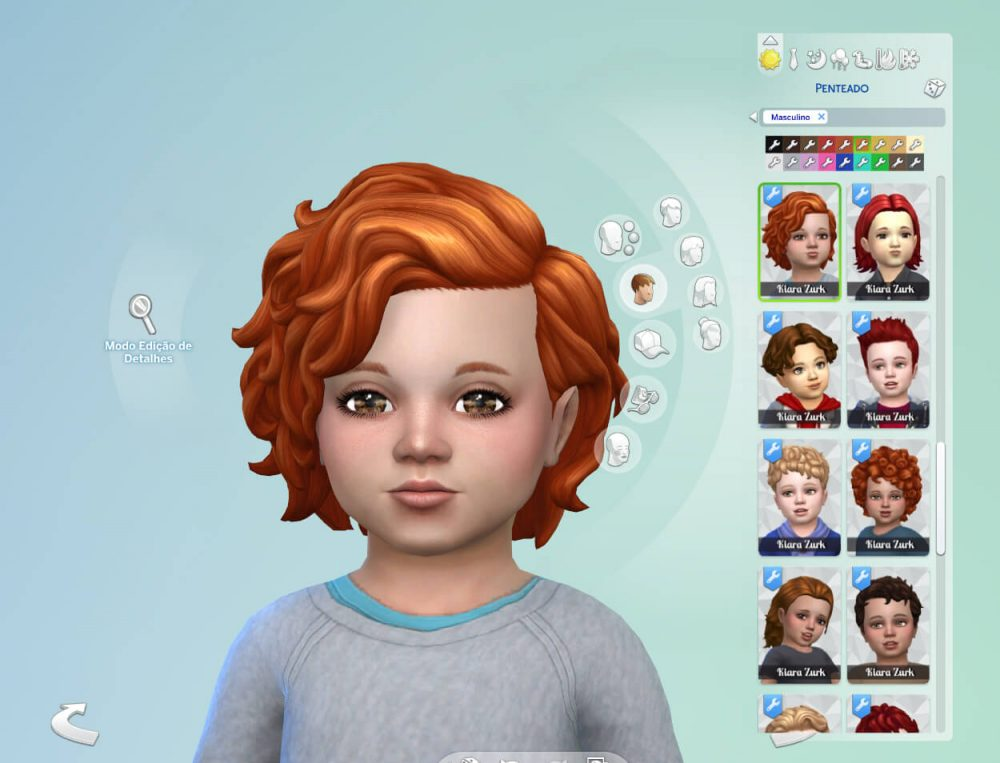 RM Short Curly for Toddlers