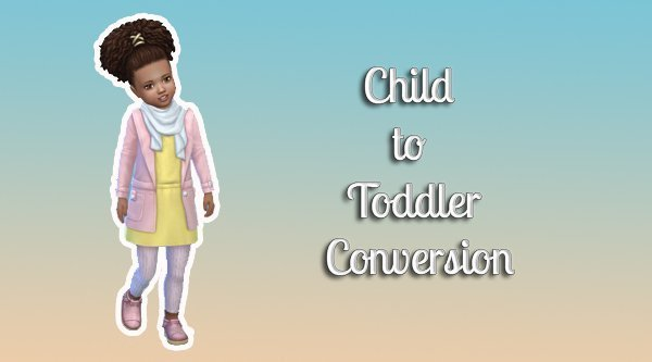 Child To Toddler Conversion