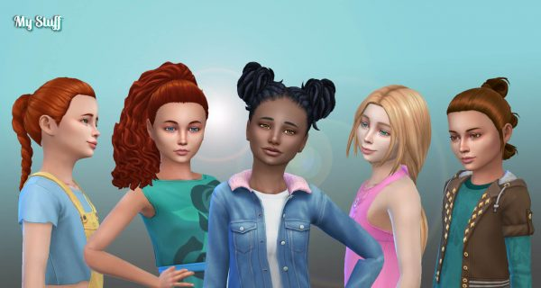 Girls Tied Hairs Pack 11