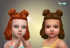 Medium Space Buns for Toddlers