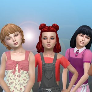 Girls Medium Hair Pack 15
