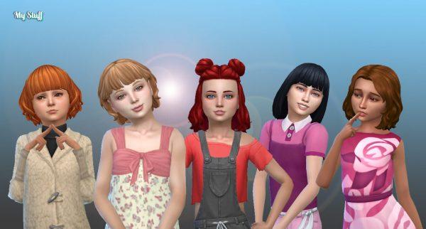 Girls Medium Hair Pack 15
