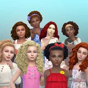 Girls Curly Hair Pack