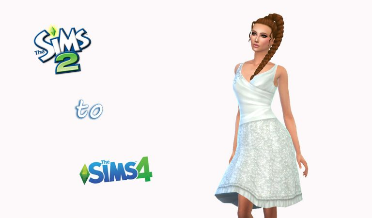 How to Convert Sims 2 Dress to Sims 4