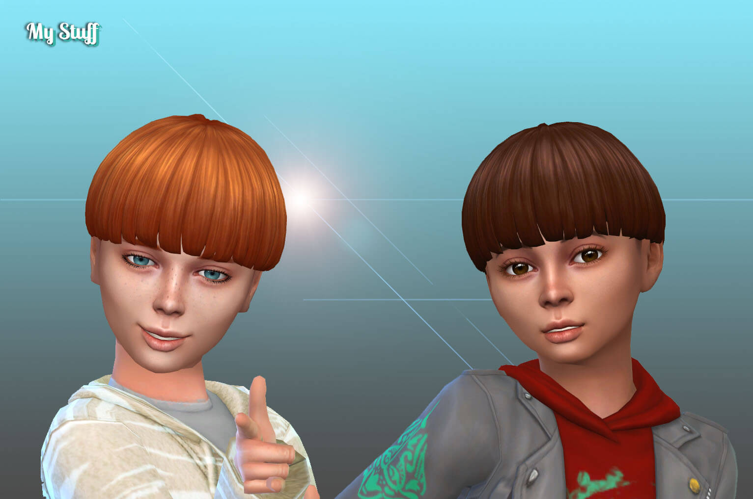 Straight Bowl cut for Boys