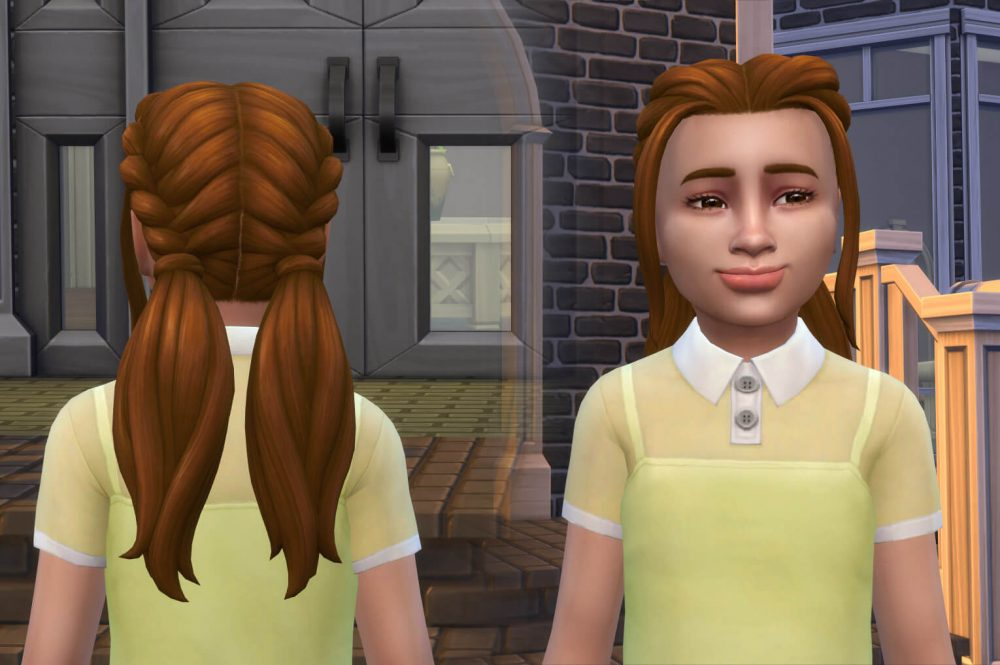 EP09 Twisted Ponytails for Girls