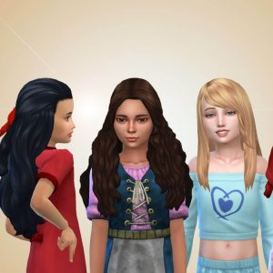 Girls Long Hair Pack 25