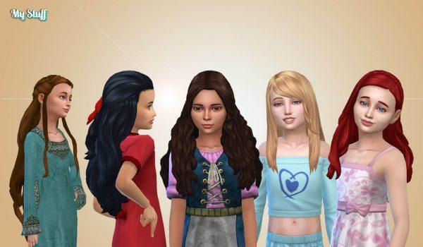 Girls Long Hair Pack 25