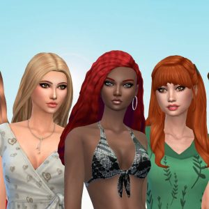 Female Long Hair Pack 29