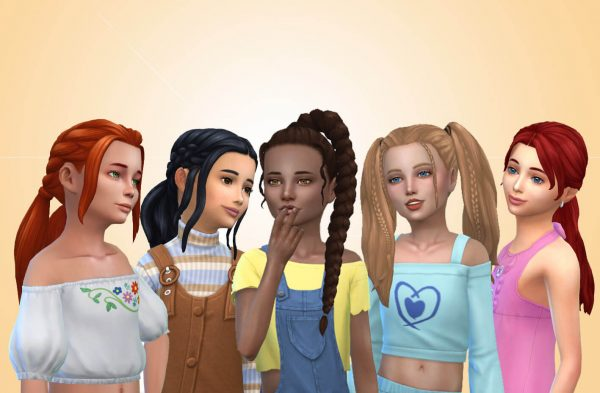 Girls Tied Hairs Pack 13