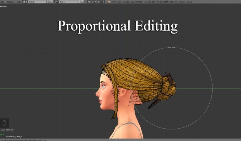 Blender – Proportional Editing