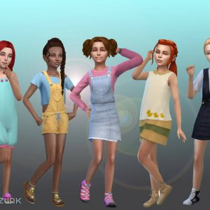 Girls Body Clothes Pack 3
