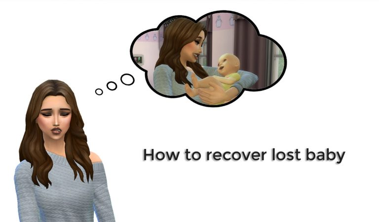 How to recover lost baby in The Sims 4