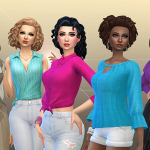 Female Top Clothes Pack 3