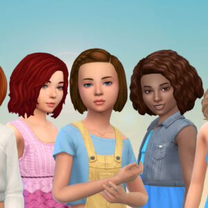Girls Medium Hair Pack 16