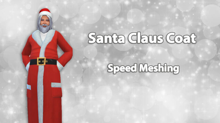 Santa Claus Coat – Speed Meshing