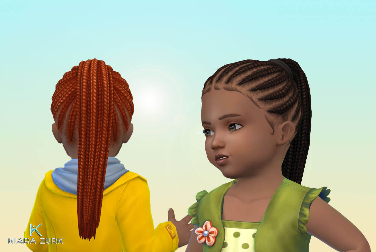 Braided Pony Tail Plain for Toddlers