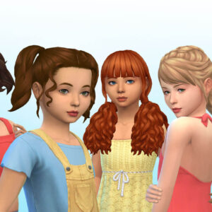 Girls Tied Hairs Pack 14